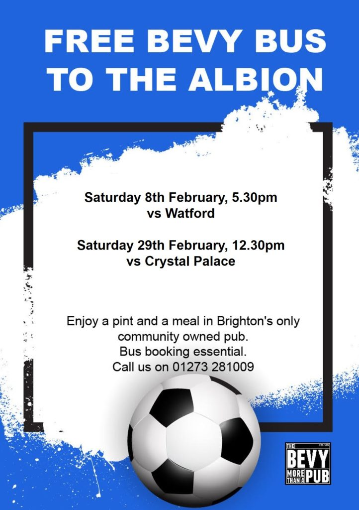 Brighton Bevy bus to the Albion