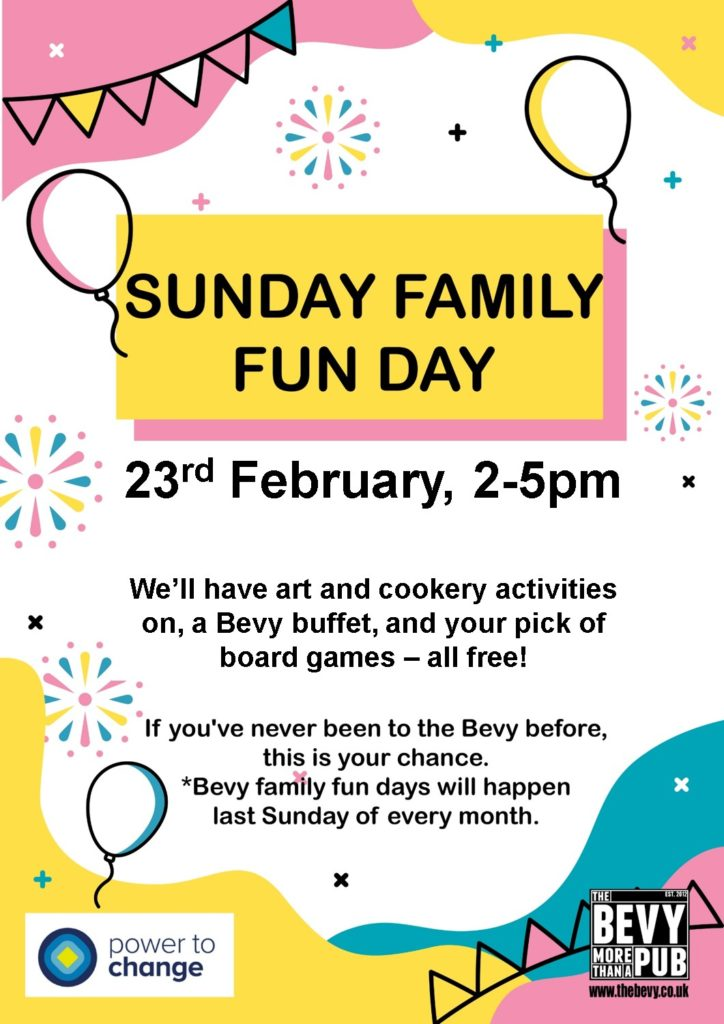 Family Fun Day at The Bevy community pub Brighton