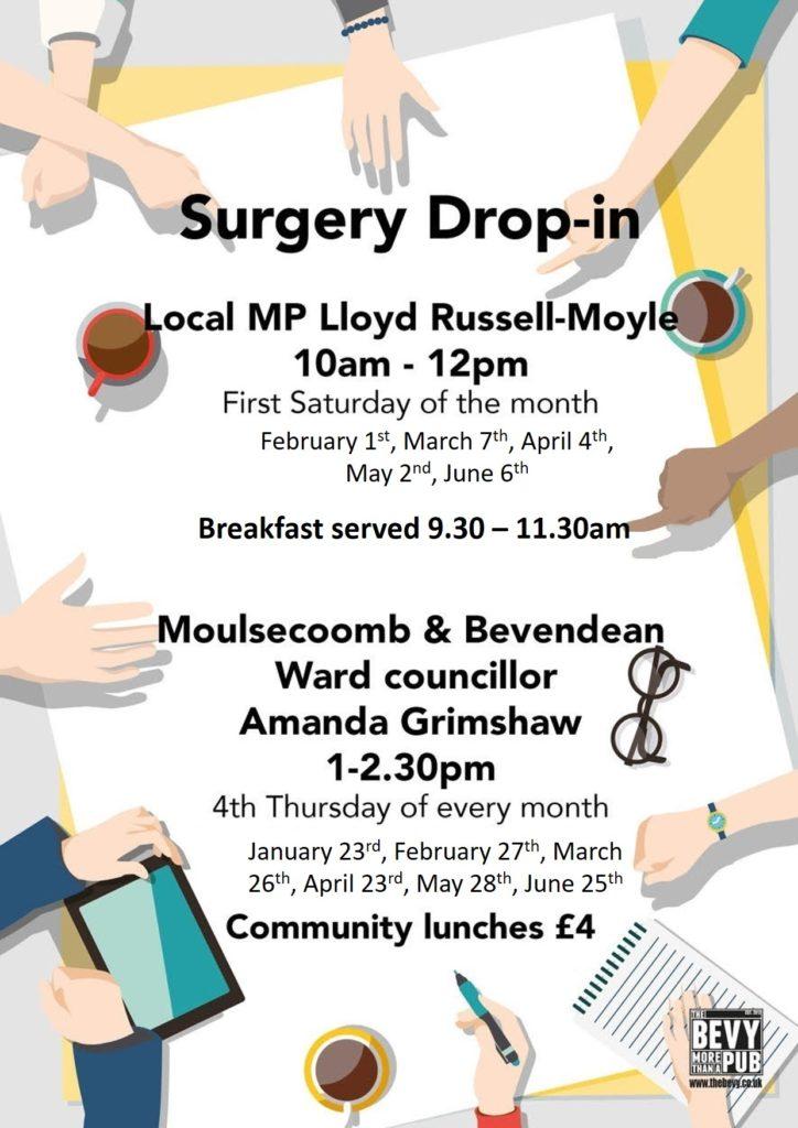 MP & Councillor surgery Bevy Brighton