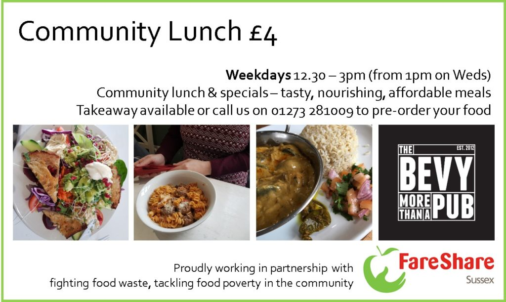 Lunch at The Bevy Brighton wiith FareShare