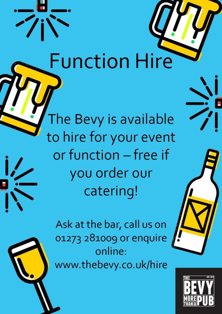 Free function hire Brighton