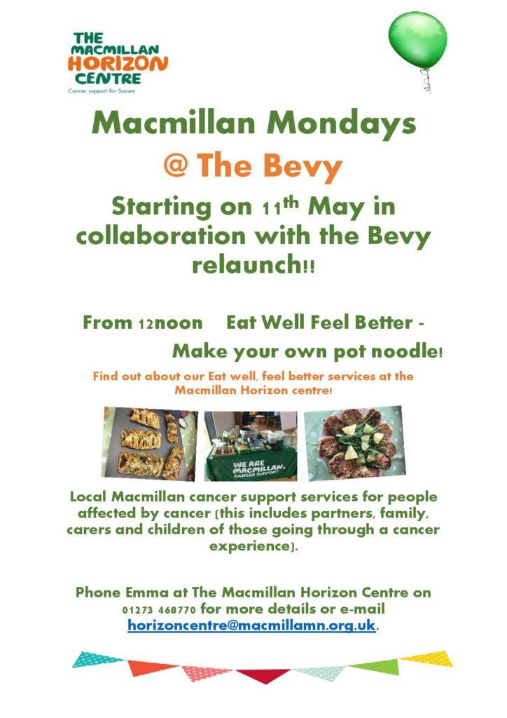 Macmillan Mondays at The Bevy