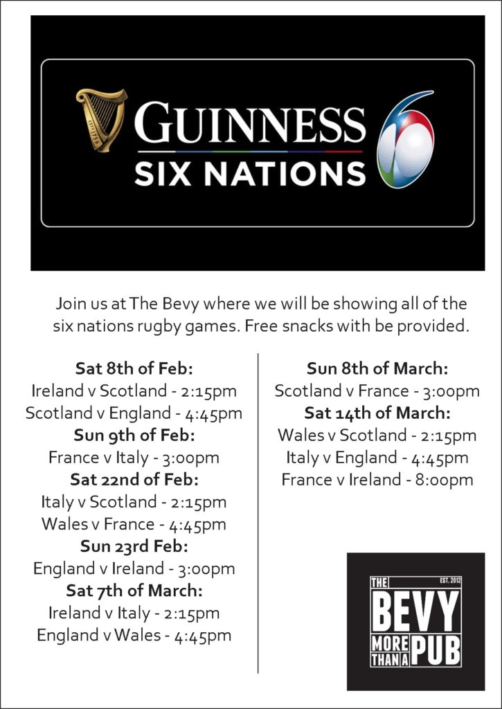 Six Nations Rugby - Bevy Brighton
