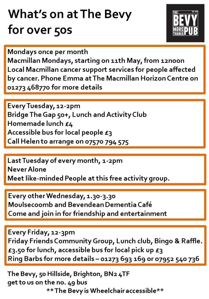 Older People's activities Bevy Brighton