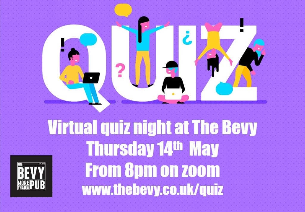 Virtual quiz night Bevy Brighton
