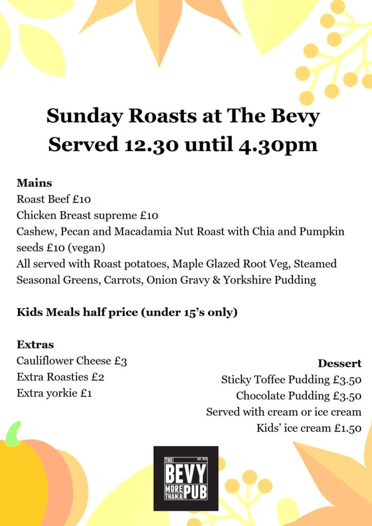 Sunday Roast Brighton Bevy